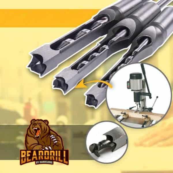 BEARDRILL ®️ Taladro de cincel de madera