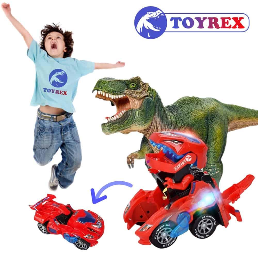 TOYREX® Coche Dinosaurio con Luces LED